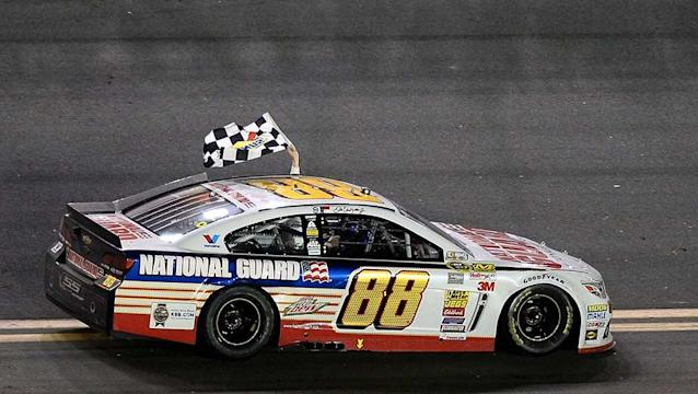 Dale Earnhardt Jr. wins Daytona 500 after a frantic two-lap sprint to the finish