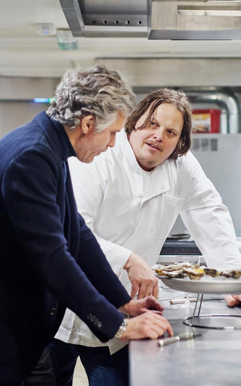 Chef Slade Rushing, right, brings the expertise in creole cookery