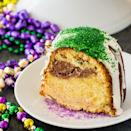 """<p>Rich, moist, and absolutely dreamy, this pound cake is the Mardi Gras dessert you've been missing. Complete with a cinnamon-flavored swirl and a sugary glaze, you'll be going back for seconds before you're even done with your first piece.</p> <p><strong>Get the recipe</strong>: <a href=""""https://spicysouthernkitchen.com/mardi-gras-pound-cake/"""" class=""""link rapid-noclick-resp"""" rel=""""nofollow noopener"""" target=""""_blank"""" data-ylk=""""slk:Mardi Gras pound cake"""">Mardi Gras pound cake</a></p>"""