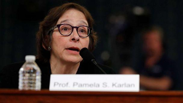 PHOTO: Constitutional law scholar Pamela Karlan apologizes for a remark referencing Barron Trump's name during a hearing before the House Judiciary Committee, Dec. 4, 2019, on Capitol Hill in Washington. (Jacquelyn Martin/AP)