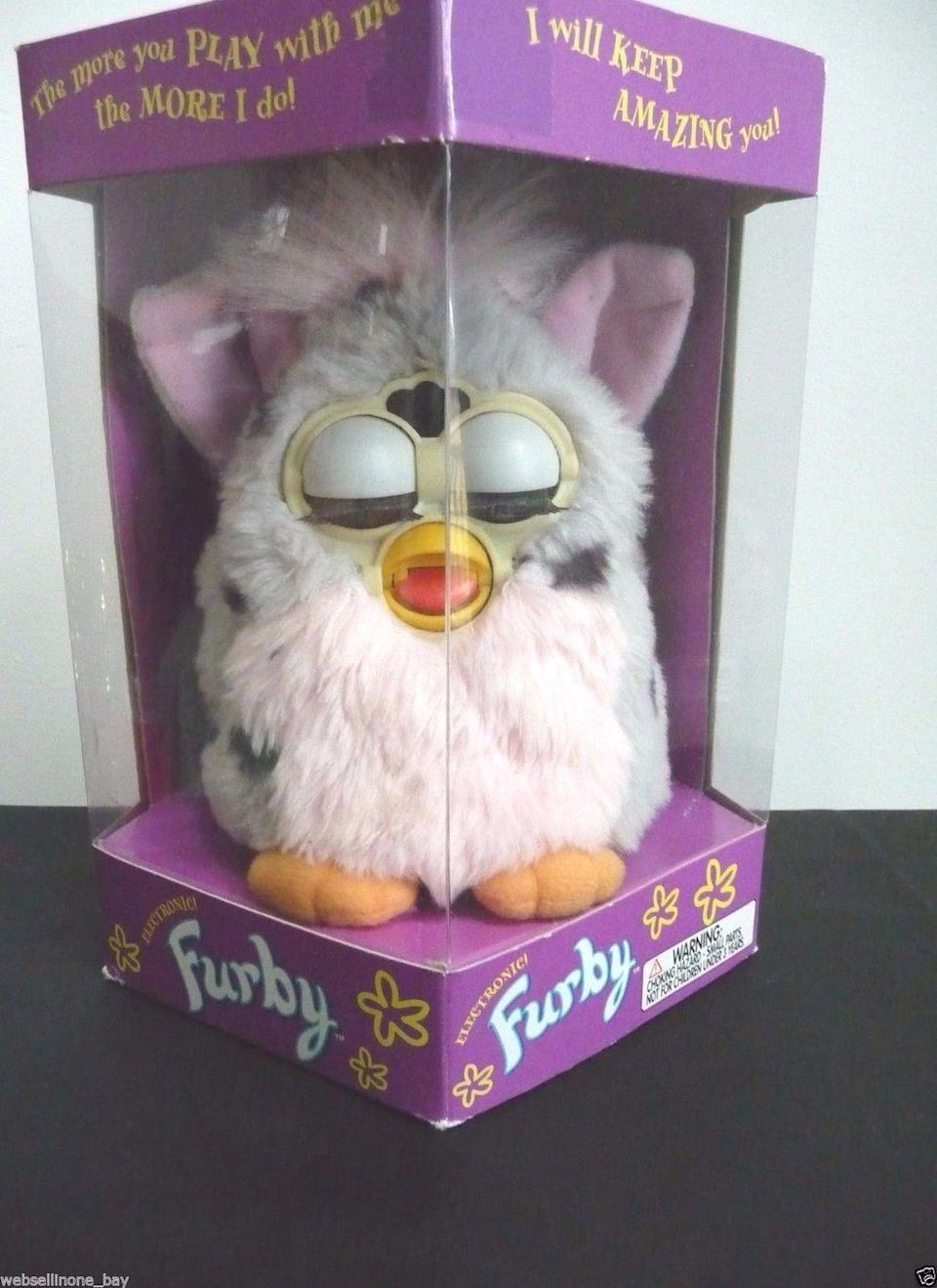 """<p>These furry, interactive toys came on the scene in 1998. If you're holding on to <a href=""""https://go.redirectingat.com?id=74968X1596630&url=http%3A%2F%2Fwww.ebay.com%2Fitm%2FTIGER-ELECTRONICS-1998-ORIGINAL-FURBY-NEVER-OPENED-CLOSED-EYES-700-80-%2F281965274098%3Fhash%3Ditem41a670a3f2%253Ag%253AMrkAAOSwh-1W2JoB&sref=https%3A%2F%2Fwww.countryliving.com%2Fshopping%2Fantiques%2Fg3141%2Fmost-valuable-toys-from-childhood%2F"""" rel=""""nofollow noopener"""" target=""""_blank"""" data-ylk=""""slk:an early version in an unopened box"""" class=""""link rapid-noclick-resp"""">an early version in an unopened box</a>, you could expect it to fetch about $900. </p>"""