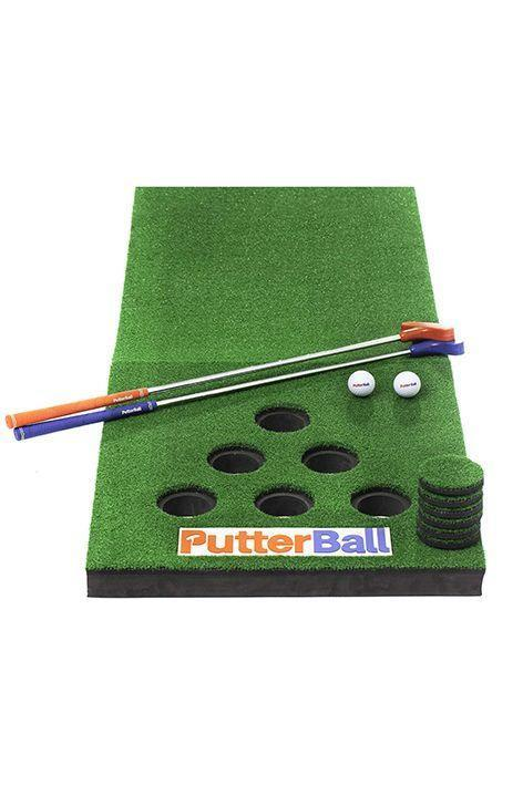 """<p><strong>PutterBall</strong></p><p>amazon.com</p><p><strong>$219.99</strong></p><p><a href=""""https://www.amazon.com/dp/B07VWCRSPM?tag=syn-yahoo-20&ascsubtag=%5Bartid%7C10072.g.32880344%5Bsrc%7Cyahoo-us"""" rel=""""nofollow noopener"""" target=""""_blank"""" data-ylk=""""slk:SHOP NOW"""" class=""""link rapid-noclick-resp"""">SHOP NOW</a></p><p>Bring mini golf to your own backyard with this full set that doubles as a unique beer pong game. It comes with everything you need (minus the beer!): two putters, two golf balls, the golf mat, and hole covers.</p>"""