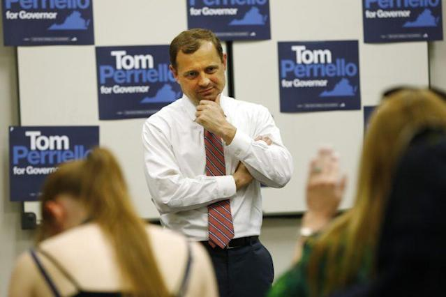 Democratic gubernatorial candidate Tom Perriello at a town hall in Richmond, Va., May 3, 2017. (Photo: Steve Helber/AP)