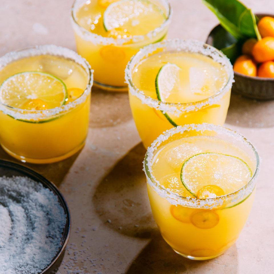 <p>Kumquats are bite-size citrus fruit that you can eat whole, including the skins and seeds. Find them in season November through March for a great sweet addition to your traditional margarita recipe.</p>