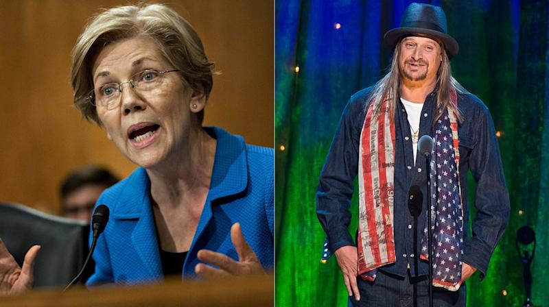 Elizabeth Warren on Kid Rock: 'We All Thought Trump Was Joking Too'