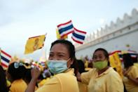 The monarchists were dressed in yellow, the royal colur