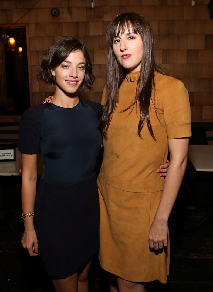 Olivia Thirlby and director Ry Russo-Young attend the Los Angeles premiere of 'Nobody Walks' after party at Wood & Vine on October 2, 2012 in Hollywood, California.  (Photo by Jesse Grant/WireImage)