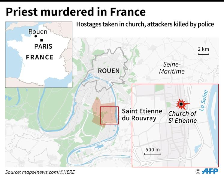 Priest killed in attack in northern France (AFP Photo/Jonathan Walter)