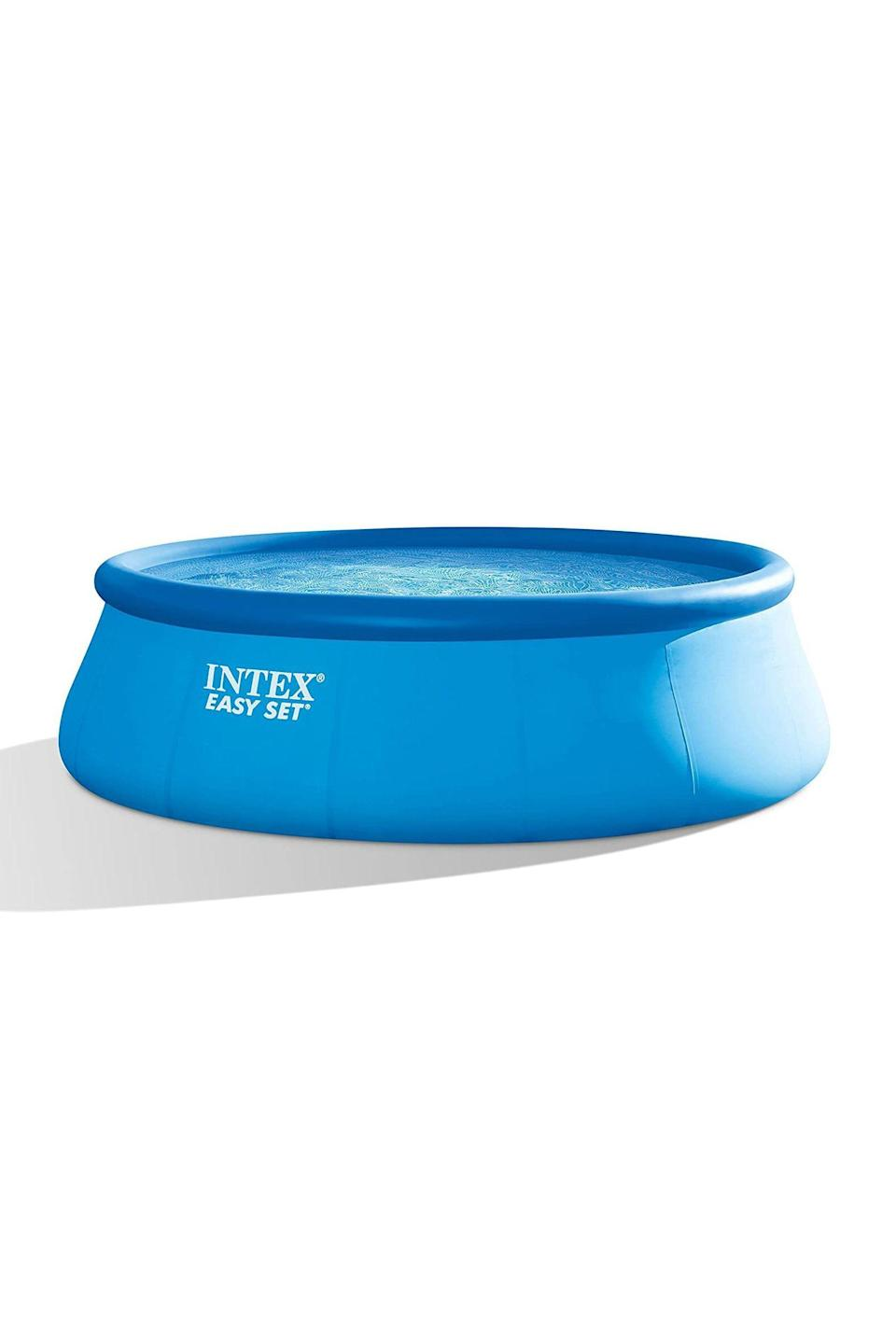 """<p><strong>Intex</strong></p><p>homedepot.com</p><p><strong>$271.76</strong></p><p><a href=""""https://go.redirectingat.com?id=74968X1596630&url=https%3A%2F%2Fwww.homedepot.com%2Fp%2FIntex-Easy-Set-15-ft-Round-x-48-in-Deep-Inflatable-Pool-28167EH-K%2F305227060&sref=https%3A%2F%2Fwww.delish.com%2Ffood-news%2Fg33420485%2Fbest-inflatable-pools%2F"""" rel=""""nofollow noopener"""" target=""""_blank"""" data-ylk=""""slk:SHOP IT"""" class=""""link rapid-noclick-resp"""">SHOP IT</a></p><p>Intex's round deep inflatable pool is also currently sold out (gotta love quarantine summers!), but you can submit your email on the site to be alerted when more become available. At this point, you have nothing to lose—especially since it doesn't start getting cool until October.<br></p>"""