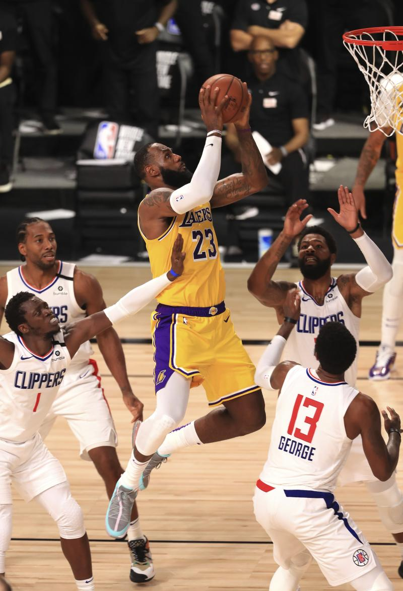 James' layup late lifts Lakers past Clippers, 103-101