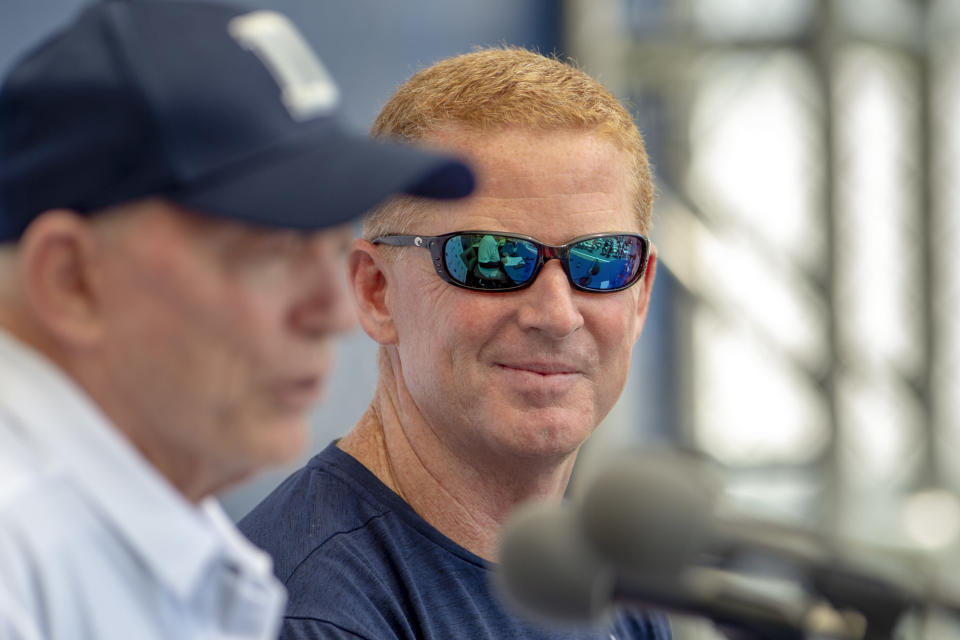 Dallas Cowboys head coach Jason Garrett is entering his eighth season in charge, but has led the Cowboys to the playoffs just twice. (AP)