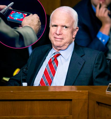 John McCain Caught Playing Poker on iPhone During Syria Hearing, Unapologetic