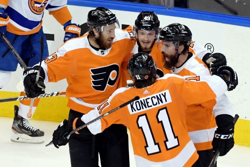 Flyers stave off elimination with OT goal against Islanders
