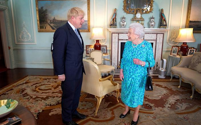 Boris Johnson met the Queen in July 2019, where she officially recognised him as the new Prime Minister - Victoria Jones/Pool via REUTERS