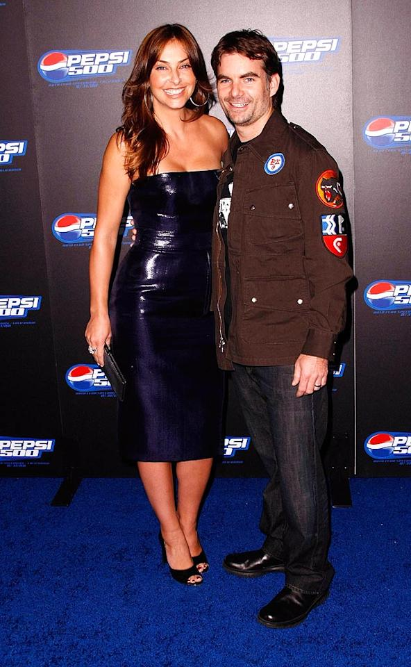 """Cohost Jeff Gordon raced down the red carpet with his model wife Ingrid Vandebosch. Jordan Strauss/<a href=""""http://www.wireimage.com"""" target=""""new"""">WireImage.com</a> - August 27, 2008"""