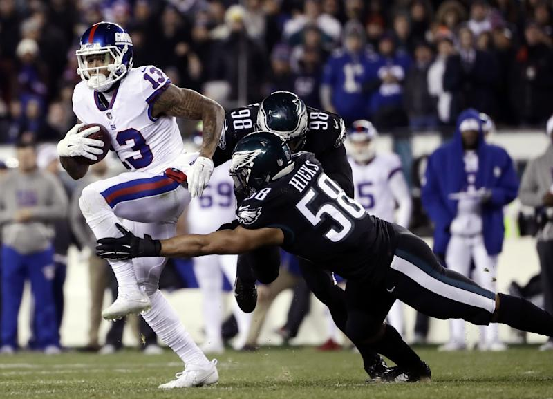 buy online 89c11 eb0a0 Giants fail to earn playoff bid in loss to Eagles, as ...