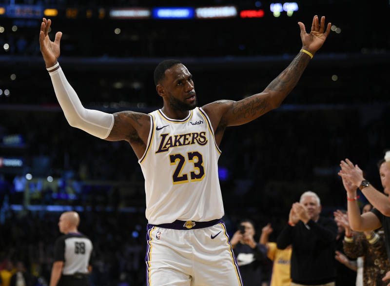 Los Angeles Lakers forward LeBron James is injury free and defensive-minded. (AP Photo/Kelvin Kuo)