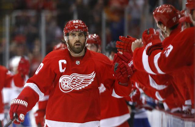 Red Wings' Zetterberg out with upper-body injury