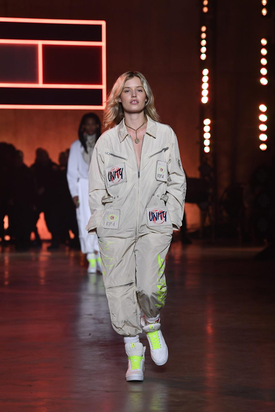 Georgia May Jagger walks the runway at the Tommy Hilfiger show during London Fashion Week. (Tommy Hilfiger)