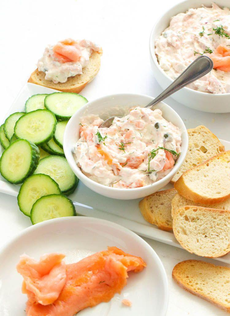 """<p>This indulgent dip is a great holiday appetizer. You can pair it with crostini or veggies.</p><p><strong>Get the recipe at <a href=""""https://www.africanbites.com/smoked-salmon-dip/"""" rel=""""nofollow noopener"""" target=""""_blank"""" data-ylk=""""slk:Immaculate Bites"""" class=""""link rapid-noclick-resp"""">Immaculate Bites</a>.</strong></p><p><strong><a class=""""link rapid-noclick-resp"""" href=""""https://go.redirectingat.com?id=74968X1596630&url=https%3A%2F%2Fwww.walmart.com%2Fsearch%2F%3Fquery%3Dpioneer%2Bwoman%2Bbowls&sref=https%3A%2F%2Fwww.thepioneerwoman.com%2Ffood-cooking%2Fmeals-menus%2Fg34272733%2Fchristmas-party-appetizers%2F"""" rel=""""nofollow noopener"""" target=""""_blank"""" data-ylk=""""slk:SHOP BOWLS"""">SHOP BOWLS</a><br></strong></p>"""