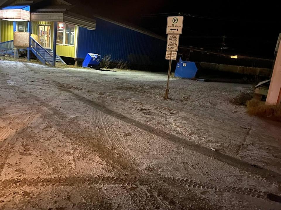 A shooting took place on Mackenzie Road in downtown Inuvik over the weekend. William Aleekuk, 38, has been charged with attempted murder and will appear in court on Oct. 13. (Mackenzie Scott/CBC - image credit)