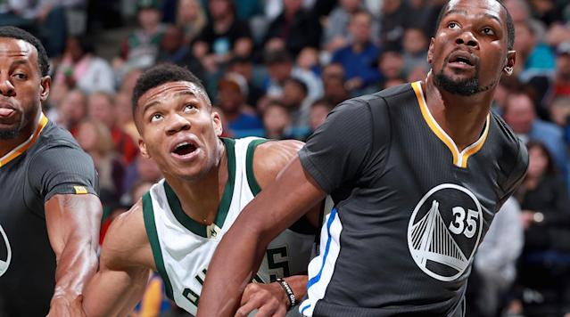 Kevin Durant and Giannis Antetokounmpo share many similarities. They both are athletic freaks, usually reserved and played for small-market teams.