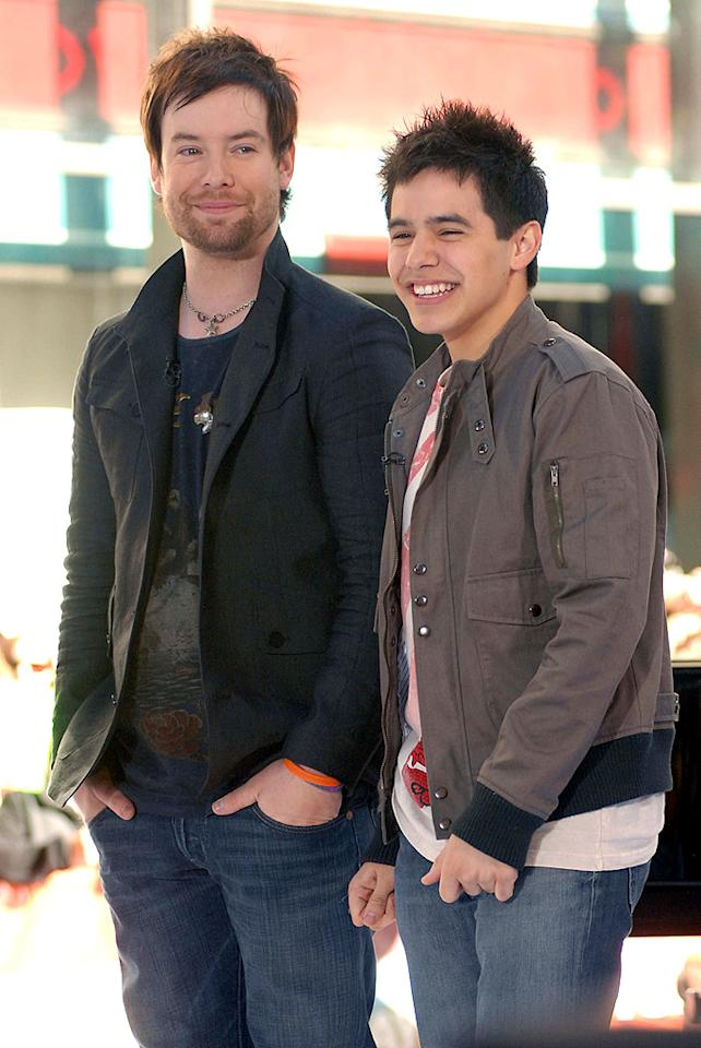 """American Idol"" winner David Cook and runner-up David Archuleta make an appearance on the ""Today"" show. Alexander/<a href=""http://www.splashnewsonline.com"" target=""new"">Splash News</a> - May 29, 2008"