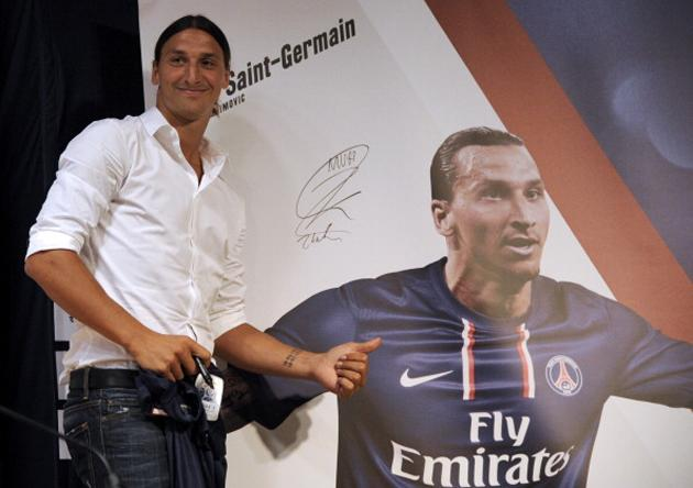 Zlatan Ibrahimovic loves what PSG have done with the decor (Getty)