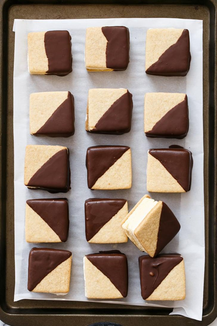 "<p>For a frosty alternative to the classic molten sweet, try decadent <a href=""http://www.loveandoliveoil.com/2014/06/chocolate-dipped-smores-ice-cream-sandwiches.html"" class=""link rapid-noclick-resp"" rel=""nofollow noopener"" target=""_blank"" data-ylk=""slk:s'mores ice cream sandwiches"">s'mores ice cream sandwiches</a>.</p>"