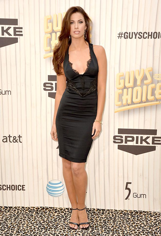 "CULVER CITY, CA - JUNE 08:  Model Katherine Webb attends Spike TV's ""Guys Choice 2013"" at Sony Pictures Studios on June 8, 2013 in Culver City, California.  (Photo by Frazer Harrison/Getty Images for Spike TV)"