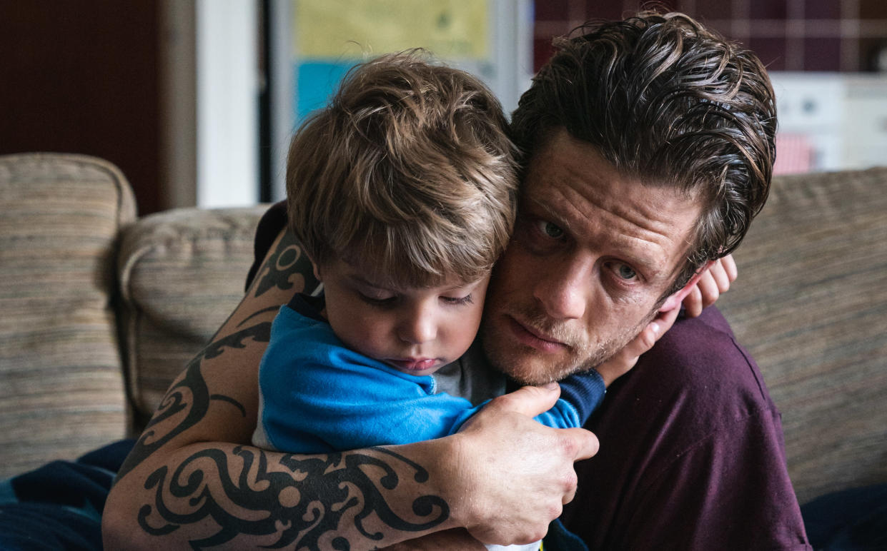 James Norton says he formed a real bond with four-year-old Daniel Lamont while filming 'Nowhere Special'. (Curzon/Artificial Eye)