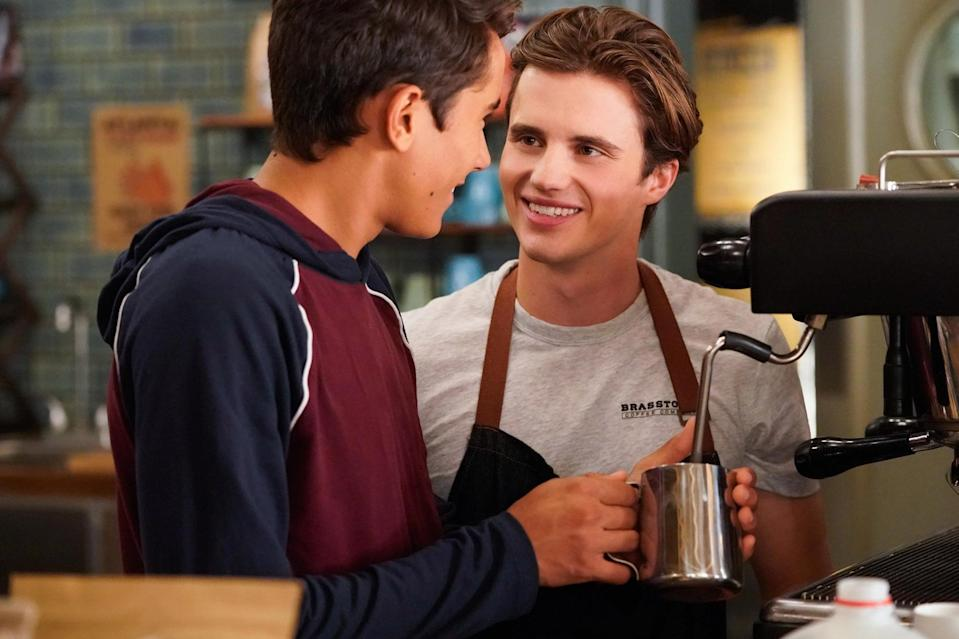 <p>The TV follow-up to <strong>Love, Simon</strong> is every bit as charming and cute in its exploration of the highs and lows of young love. Victor (Michael Cimino) is dealing with the dual challenges of a new school and figuring out his sexuality, and things get even more complicated when he grows closer to his cute, openly gay classmate (George Sear).</p> <p><span>Watch <strong>Love, Victor</strong> on Hulu</span>.</p>