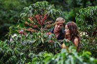 Soap opera script writers have had to adapt their storylines to the working conditions imposed by the coronavirus pandemic although actors Laura Londono and William Levy still manage to remain close during scenes