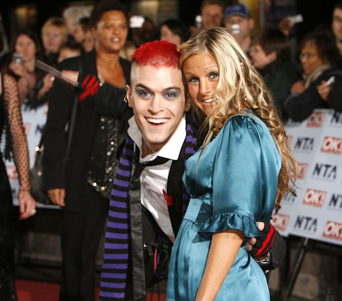 Pete Bennett and Nikki Grahame during 12th Anniversary National Television Awards - Arrivals at Royal Albert Hall in London, Great Britain. (Photo by Richard Lewis/WireImage)
