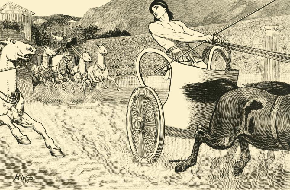 Clisthenes at the Olympic Games. Cleisthenes also Clisthenes or Kleisthenes, tyrant of Sicyon from c600-560 BC, won the Olympics as a chariot racer.