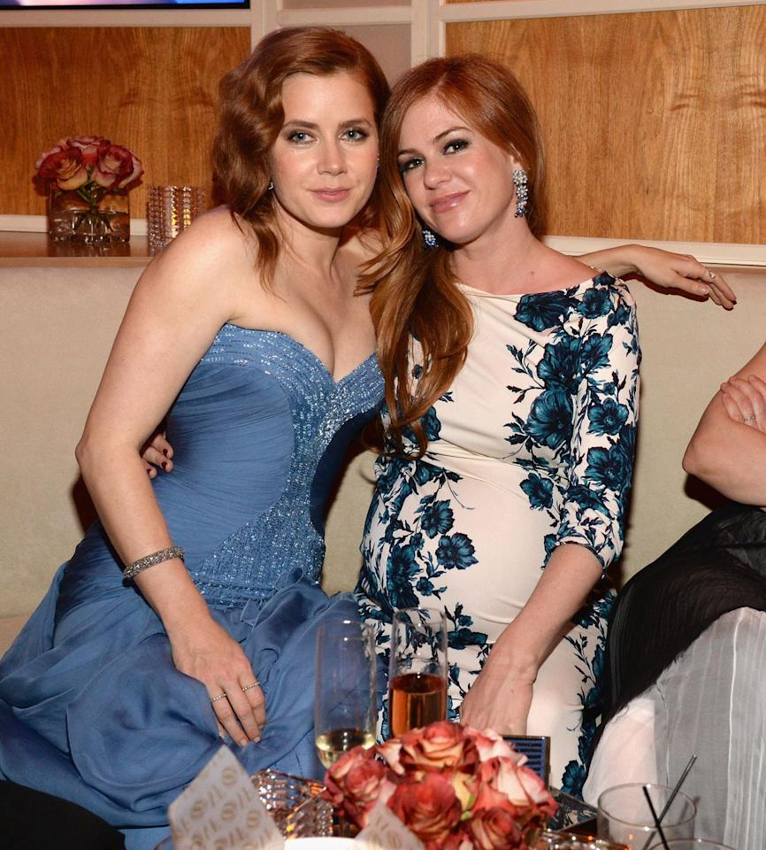 """<p>Isla Fisher says she's frequently mistaken for Amy Adams—even by other celebrities. She <a href=""""http://www.elle.com/culture/celebrities/a12795845/lady-gaga-thought-isla-fisher-was-amy-adams-jimmy-kimmel/"""" target=""""_blank"""">shared</a> a story with Jimmy Kimmel about being mistaken for the <em>Enchanted</em> star by Lady Gaga at the 2014 <em>Vanity Fair</em> Oscar party. </p><p>""""I was there, all excited and dressed up at the bar and you know, schmoozing with show biz types, and the crowds parted, and there was Lady Gaga,"""" she said. """"And she's heading right toward me, and she says, 'Thank you. Your performance in <em>American Hustle</em>, Amy, was—' And I'm thinking, <em>Oh my gosh, it's Lady Gaga. I love her so much. I don't want to tell her the truth</em>. So I just gracefully thanked her, bowed my head, okay? And then she wants to talk about the performance, and now I'm thinking, I don't want to be a liar… And then I look over her shoulder and there's Amy Adams walking into the party. So I'm like, 'There's Isla Fisher.' I said, 'She's not even nominated for anything. What's she doing here?'""""</p>"""