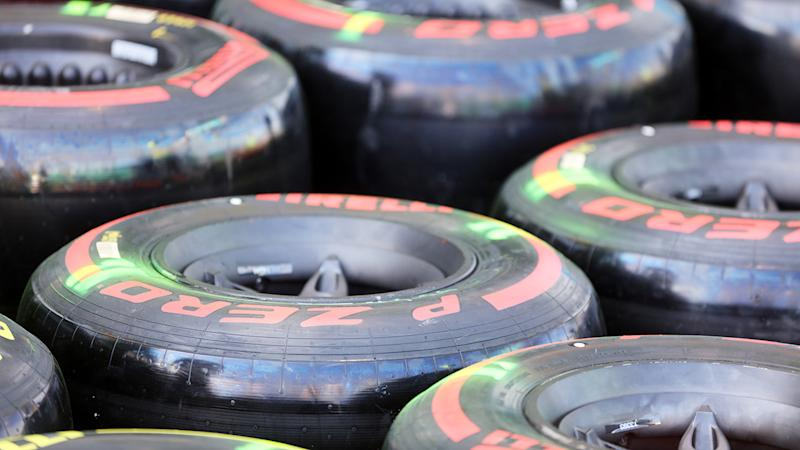 Pirelli tyres, pictured here before the Australian Grand Prix.