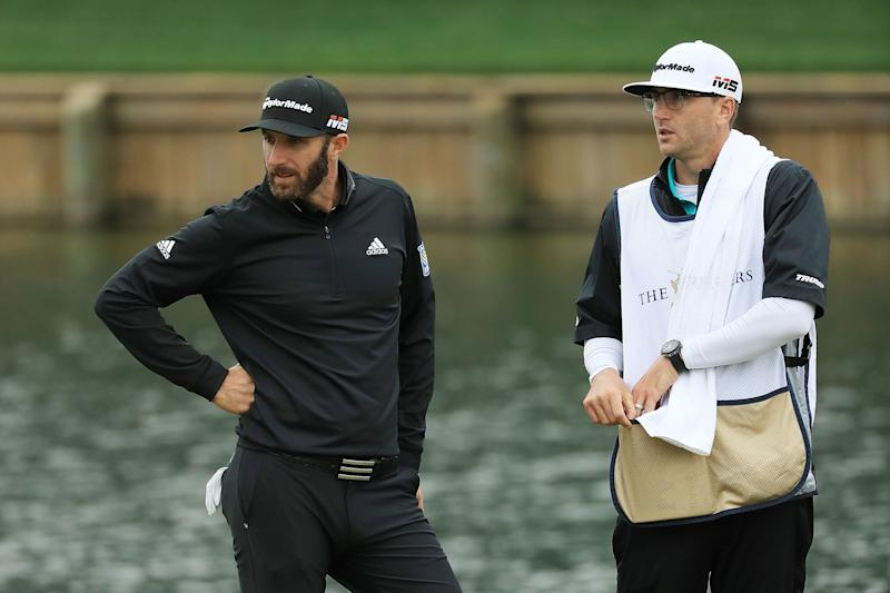 Dustin Johnson's brother/caddie becomes latest family member to hurt himself on a flight of stairs