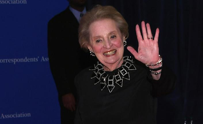 <p>Former Secretary of State Madeleine Albright attends the 102nd White House Correspondents' Dinner, April 30. <i>(Photo: Larry Busacca/Getty Images)</i></p>