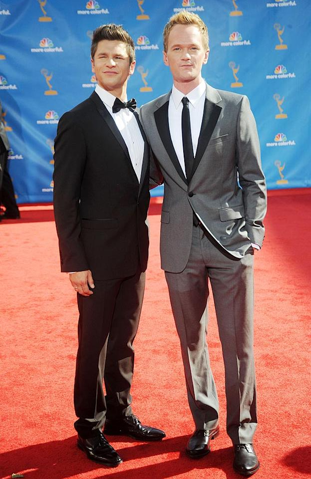 David Burtka and Neil Patrick Harris<br> Grade: B, A<br><br> The expectant dads made a dapper duo, but NPH managed to outshine his main squeeze in a gray retro Calvin Klein suit and skinny tie.