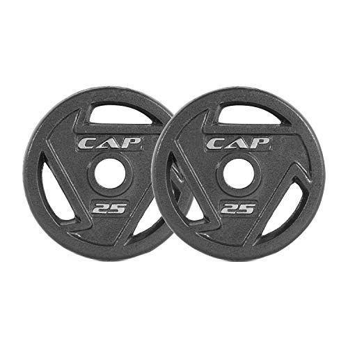 """<p><strong>CAP Barbell</strong></p><p>amazon.com</p><p><strong>$144.88</strong></p><p><a href=""""https://www.amazon.com/dp/B07VSJWW1W?tag=syn-yahoo-20&ascsubtag=%5Bartid%7C2141.g.34371548%5Bsrc%7Cyahoo-us"""" rel=""""nofollow noopener"""" target=""""_blank"""" data-ylk=""""slk:Shop Now"""" class=""""link rapid-noclick-resp"""">Shop Now</a></p><p>Home lifting is a bit of a splurge, but worth the investment, considering you'll never have to share gym equipment again. These plates have a solid <strong>4.7-star rating</strong> and work with the barbell above.</p>"""