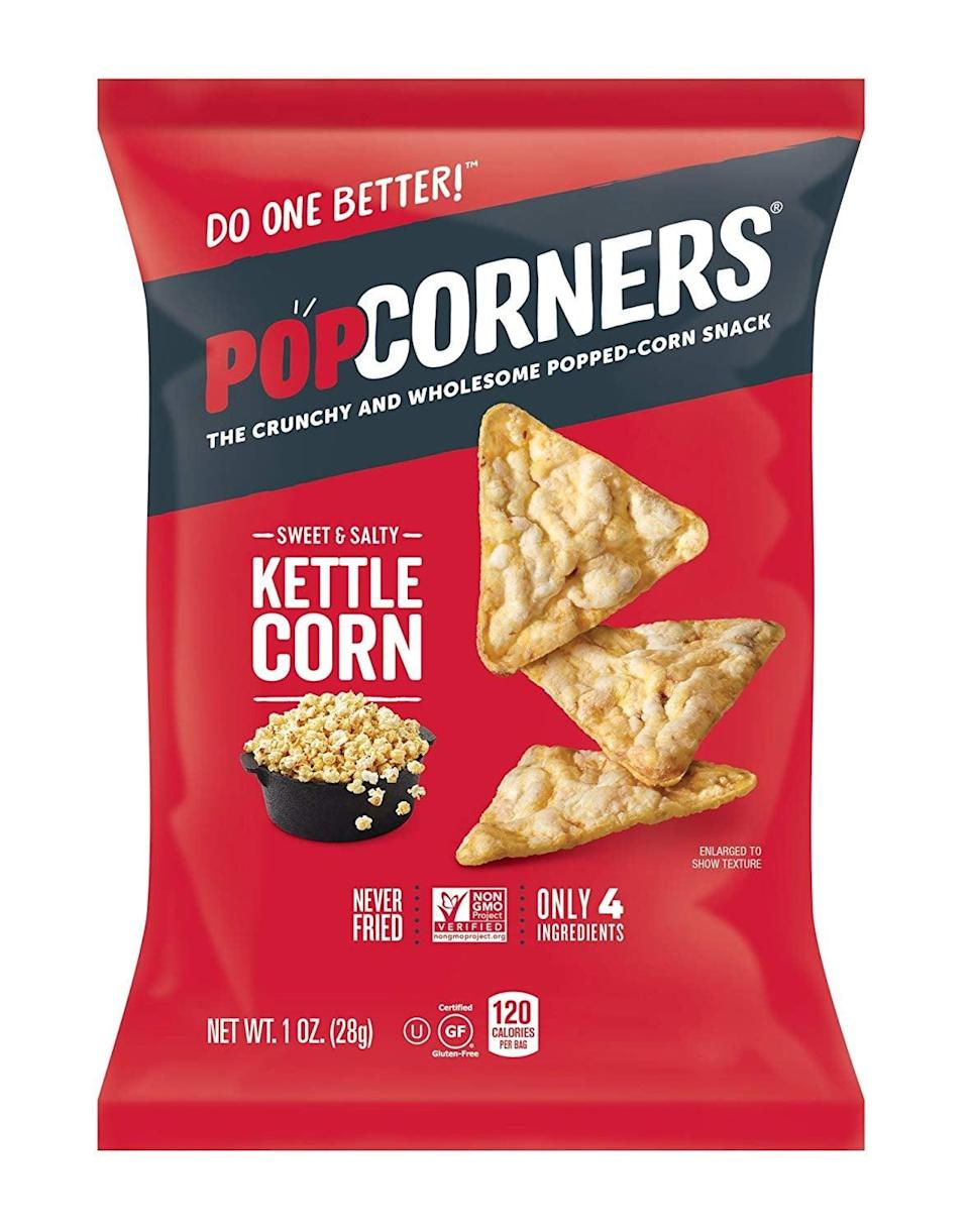 <p>These <span>POPCORNERS Sweet & Salty Kettle Corn Popped Corn Snacks</span> ($25 for 40) are sweet, crunchy, and totally craveable.</p>