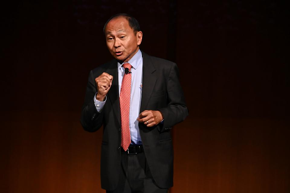 Francis Fukuyama speaks onstage during Our Tribal Nature: Tribalism, Politics, And Evolution symposia by The Leakey Foundation at The Morgan Library & Museum on September 19, 2019 in New York City. (Astrid Stawiarz/Getty Images  for The Leakey Foundation)