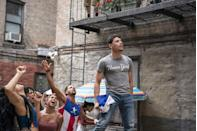 """<p>Ramos got his first big break playing the dual roles of John Laurens/Philip Hamilton alongside Lin-Manuel Miranda in <em>Hamilton, </em>and has subsequently spent the last half-decade playing memorable parts in major projects, including Mars Blackmon (Spike Lee's original role) in the Netflix <em>She's Gotta Have It </em>series, a supporting role in Bradley Cooper's <em>A Star Is Born, </em>and his current role alongside Uzo Aduba in HBO's <em>In Treatment. </em></p><p>Ramos landed his first lead role with <em>In The Heights, </em>and leading a movie feels like a spot he won't relinquish any time soon. Jon M, Chu <a href=""""https://www.menshealth.com/entertainment/a36660471/anthony-ramos-interview-in-the-heights/"""" rel=""""nofollow noopener"""" target=""""_blank"""" data-ylk=""""slk:compared him to Will Smith"""" class=""""link rapid-noclick-resp"""">compared him to Will Smith</a><em>, </em>and he'll next be taking on some big projects: a space movie called <em>Distant </em>and the next <em>Transformers </em>film, currently filming in Canada. </p>"""