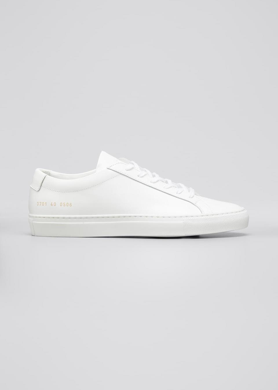 """<p>""""I am fanatical about casual white shoes. Converse, Vans, Keds, canvas, leather, textured, high-top, low-top - I love them all. My favorite pair of white sneakers, though? Hands down, <span>Common Projects Achilles Leather Low-Top Sneakers</span> ($425). They are pricey, but they are easy to clean (important when you live in Portland, the mud capital of America) and shockingly durable. I've had mine for years, and I still slip into them weekly."""" - Maggie Panos, senior editor, Voices</p> <p>""""These are not only my favorite white sneakers, but my favorite shoe period. They're certainly not cheap, but I think the sleek Italian leather and durability (I've had mine for five years!) make the price tag worth it. I promise they look as good with a pair of leggings or sweats as they do with a dress or tailored trousers."""" - Yerin Kim, associate editor, Trending and Viral Features</p>"""