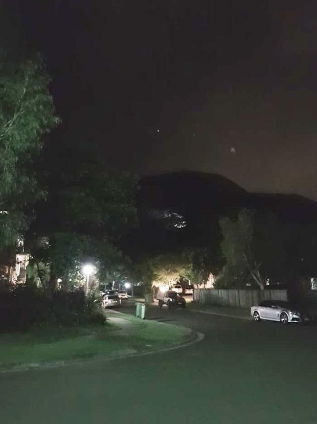 Lauren claims she spotted a UFO during a walk with her son. Photo: Facebook/LaurenKurth