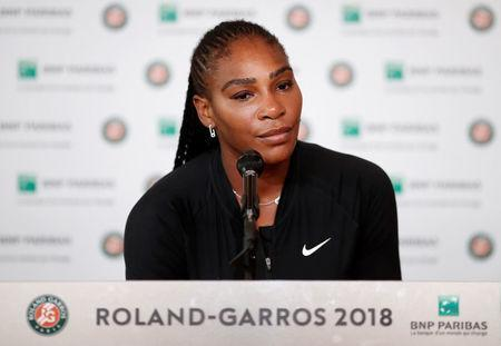 FILE PHOTO: Tennis - French Open - Roland Garros, Paris, France - June 4, 2018 Serena Williams of the U.S during a press conference REUTERS/Benoit Tessier
