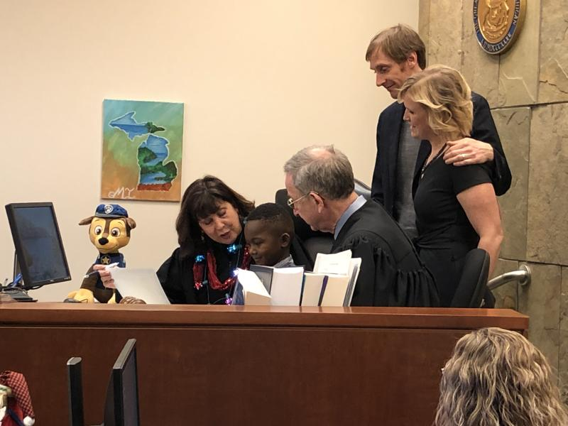 Michael's adoption at a Kent County court