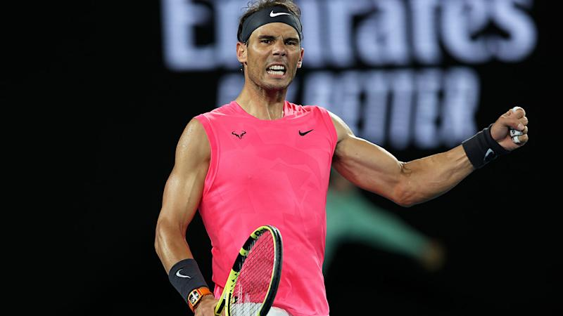 Rafael Nadal, pictured here celebrating his win at the Australian Open.