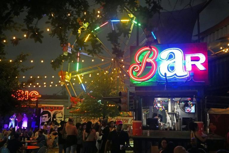 Houston's sprawling Truck Yard beergarden features its own 80-year-old Ferris wheel